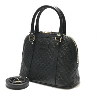 Gucci Micro Guccissima Mini Dome Satchel Black