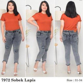 Jeans Wanita Snow Black Acid Grey