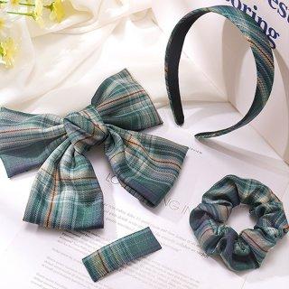 4Pcs/Set JK hairpin+Scrunchies+ Bowknot New Cute Girls hairclips