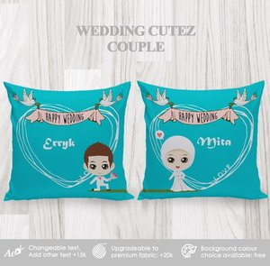 Bantal Hias Dekorasi Couple Wedding Cutez