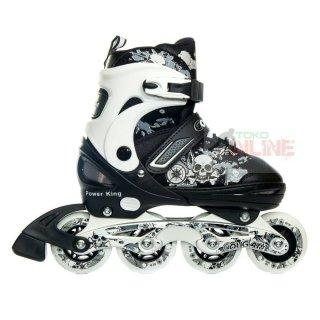 Sepatu Roda Cougar Power King White/Black Recreational Inline Skate