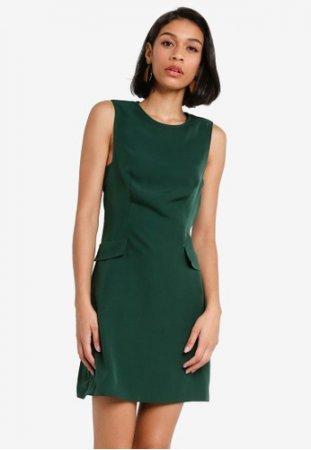 Zalora Basics A Line Pocket Detail Dress