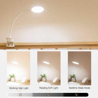 LED Clip Circle Design 5700-7300K Desk Lamp