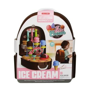 Vanyeh Ice Cream Pretend Toys with Ice Cream Tasty Gelateria Backpack Series