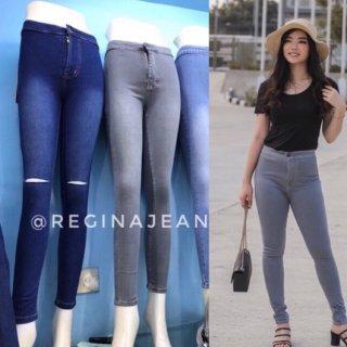 Highwaist Jeans Warna Abu-abu