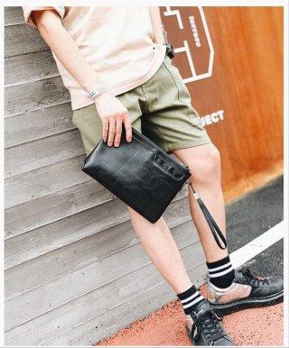 Clutch Bag Hand Bag Cowok Keren Korea Hitam