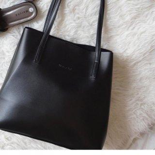 Tote Bag Ashley Shiny Black Merche