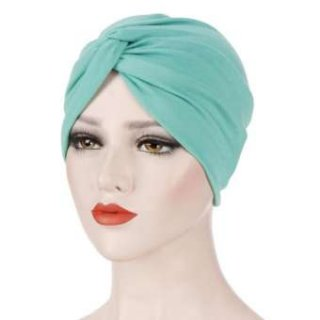 Wangyue Womens Indian Chemo Pleated Turban Hat Hair Head Wrap Hijab Muslim Caps Headband