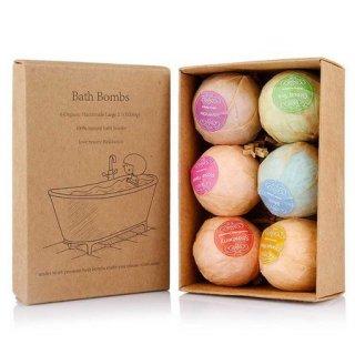 1 Box 6pcs Bath Bomb Bathtube Spa Sabun Mandi Bubble Essential Oil