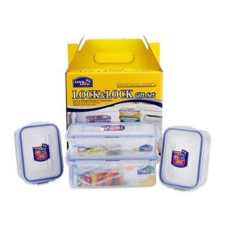 Lock&Lock Gift Set Plastic Food Container (4 Pcs)