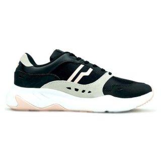 Piero Ergo W Sepatu Sneakers Wanita-Black P30151