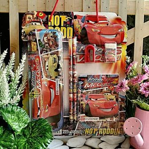 Stationery Set Cars Tenteng Souvenir Kado Alat Tulis Goodie Bag Ultah