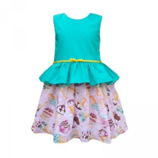 Le Chariot Mint Ice Dress Anak