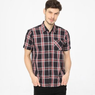 Tendencies Medium Tartan Button Kemeja Casual Pria