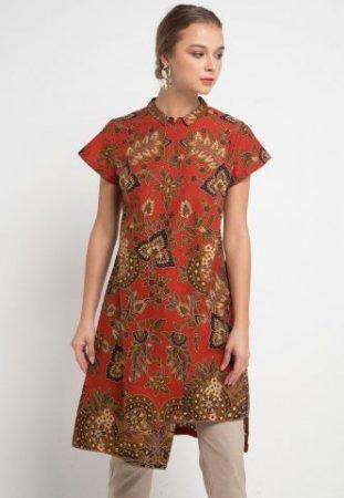 Danar Hadi Blouse Batik Print Motif Lung Kemladean