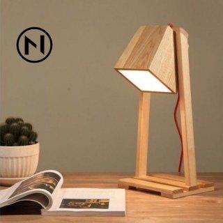 Lampu baca / Lampu tidur / Lampu meja kayu minimalis handicraft