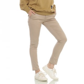 Cottonology Women Celana Chino Cream