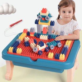 107pcs Mainan Lego Meja Duplo + Papan Tulis Magnetic