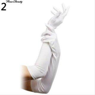 Sarung Tangan Panjang Wanita untuk Pesta Pernikahan / Malam / Prom Spandeks
