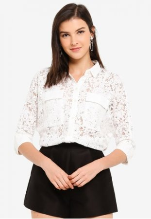 Hopeshow Laced Button Shirt