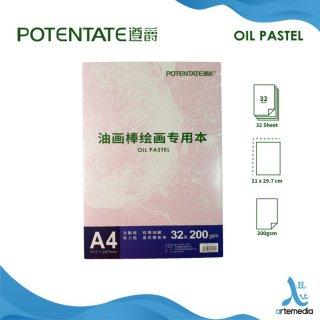 Buku Gambar A4 200gsm Potentate Oil Pastel Pad
