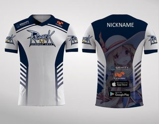 Baju Kaos Jersey Game Ragnarok Mobile ROM AOV DOTA2 Gaming - Putih, S
