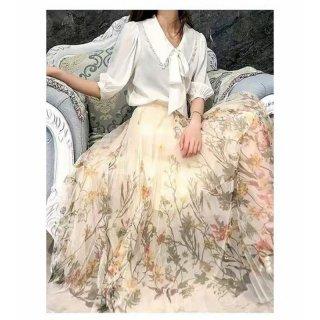 KLV Rok Tutu Printing Panjang / Printing Tutu Maxi Skirt Import