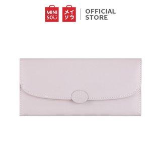 Dompet Miniso Simple Hardware Dompet Wanita Panjang 3 Lipat