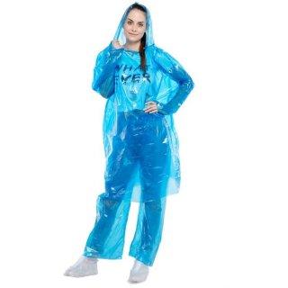 Jas Hujan LDPE Plastik Setelan Baju Celana Raincoat Kualitas Bambu Travel