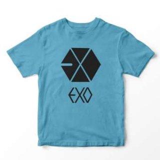 Baju Kaos Lengan Pendek EXO Size M, L, dan XL Cewek Ada 9 Warna