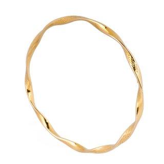 Gelang Tangan Emas Motif Spiral GK017