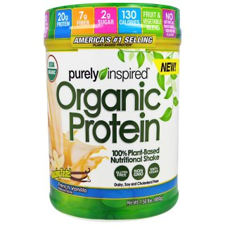 Purely Inspired Organic Protein 100% Plant-Based Nutritional Shake French Vanilla 1.50 lbs (680 g)