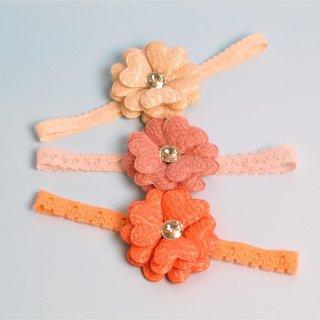 Michiko Emboss Fleur Headband