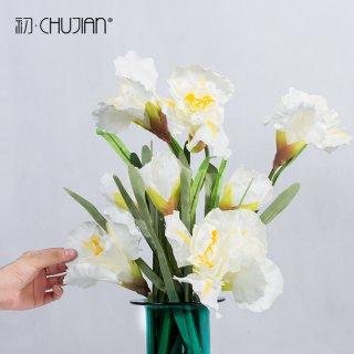 Ornamen Buket Bunga Iris Buatan Bahan Sutra