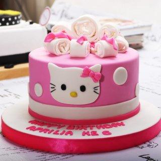 Hello Kitty Cake / Kue Ulang Tahun / Birthday Cake Diameter 16 cm