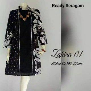 Grosir Batik - Dress Tunik Batik Kombi Emboss
