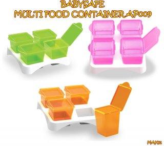 BabySafe AP009 Multi Food Container Set Peralatan Makan Anak