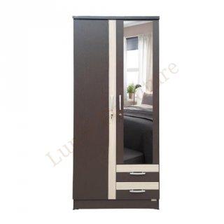 Lemari Pakaian 2 Pintu Cermin Minimalis LPT 029