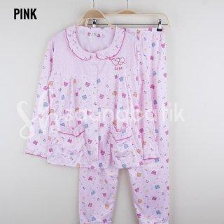 Piyama Wanita Baju Tidur Lucu Setelan Dewasa Lengan Celana Panjang