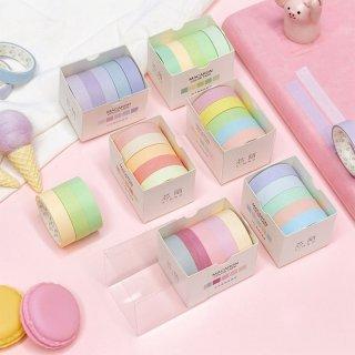 Masking Tape Set 5pc Pastel Macaron