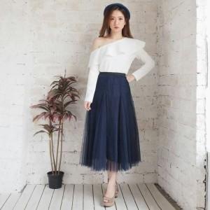 Perra Maxi Tulle Skirt RO197