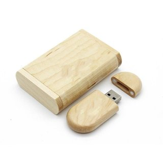 Mapel Alami USB Kayu 2.0 Flash Drive