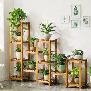 Rak Bunga Medium, 12 Wadah Tower Plants Rack