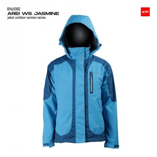 Jaket Gunung Wanita Jasmine V2 Light Blue Arei Outdoorgear