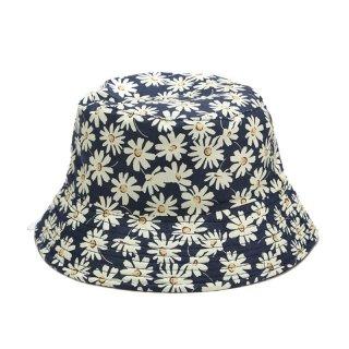 Women Summer Bucket Hat Reversible Daisy Floral Double Sided Wear