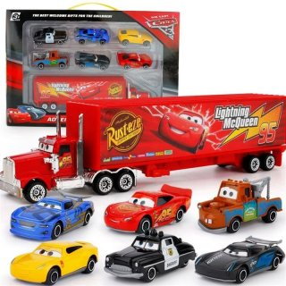 7Pcs Logam Mainan Mobil Disney Pixar McQueen