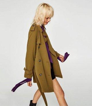 Zara Coat Lighweight Trench Coat