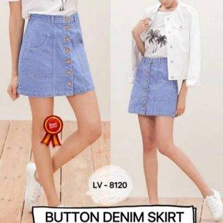 Rok Pendek Jeans Wanita Midi Mini Denim Murah Kekinian