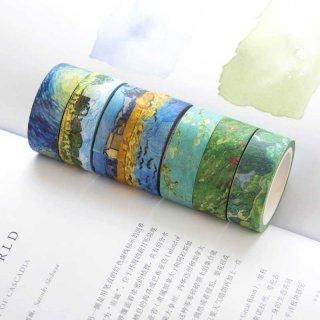 Creative Van Gogh Oil Painting Japanese Masking Washi Tape Decorative Adhesive