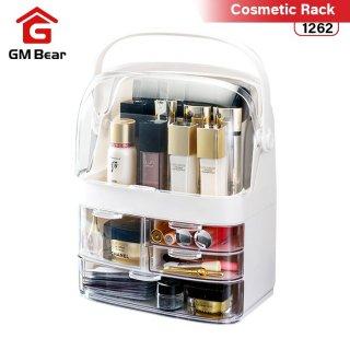 GM Bear Rak Kosmetik Clamshell Kotak Make Up Organizer -Siena Cosmetic Storage Box